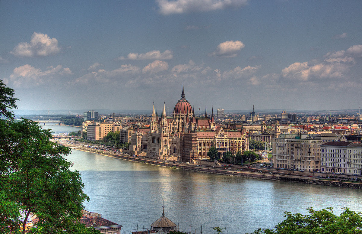 Built at the turn of the 20th century, the Hungarian Parliament Building is a Budapest landmark.